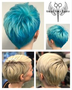 When you feel a little sad, put some colour on! 💁🏼🦋 #Bluehair #Turkis #BeDiffrent #BeWild #Haircolour #Haircut #Colour #BlueColour #Hair #Hairgoals #Hairdresser #Shorthair #Trend #Hairtrend #Copenhagen #Hairbyprince
