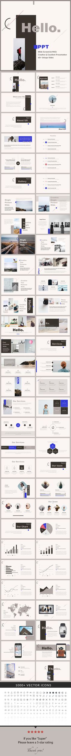 Hello  PowerPoint Presentation Template — Powerpoint PPT #infographic #chart • Download ➝ https://graphicriver.net/item/hello-powerpoint-presentation-template/19164003?ref=pxcr