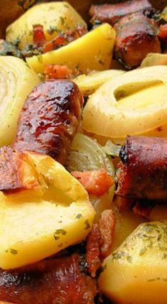 Dublin Coddle - Irish Sausage, Bacon, Onion & Potato Hotpot