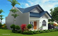 Obani Model is a one storey single attached with a total floor area of 64 square meters with an estimated rough finish budget of less than 800 thousand pesos. Simple Bungalow House Designs, Bungalow House Plans, Modern Bungalow, Small House Design, Simple House, Modern House Design, Online Architecture, Architecture Magazines, Amazing Architecture