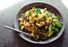 Salmon and Cavatappi Pasta Salad with Smoked Paprika + Sriracha Sauce
