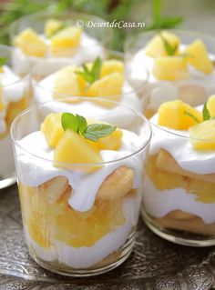Tiramisu cu ananas - Tiramisu fara oua - Desert De Casa - Maria Popa Cheesecake, Deserts, Sweets, Gummi Candy, Cheesecakes, Candy, Postres, Goodies, Dessert