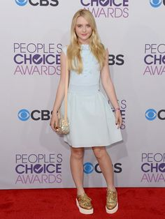 Love Kathryn Newton's fun platform sneakers!