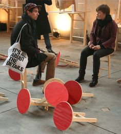 """Sgabellissimo architect Claudio Larcher and Milan's Modoloco architecture & design studio are the producers of """"Sgabellissimo."""" It's a simple and wood Kneeling Chair, Gmc Motorhome, Digital Fabrication, Secret Compartment, Mobile Design, Super Mario Bros, Sustainable Design, Design Firms, New Job"""