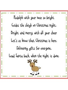 1000+ images about Christmas Poems on Pinterest | Poem, Reindeer food ...