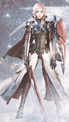 "lucyllea-artemicia: "" ""Final Fantasy XIII Trilogy Lightning iPhone 5 Wallpaper…"