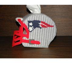 Football Helmet Tissue Box Pattern | Patriots Football Helmet Tissue Cover
