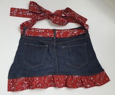 Upcycled Denim Apron • WeAllSew • BERNINA USA's blog, WeAllSew, offers fun project ideas, patterns, video tutorials and sewing tips for sewers and crafters of all ages and skill levels.
