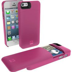 Amazon.com: Annex HCIP5P Holda Case for iPhone 5/5S with Discrete Compartment for Credit Cards, Cash and a Key - Pink: Cell Phones & Accesso...