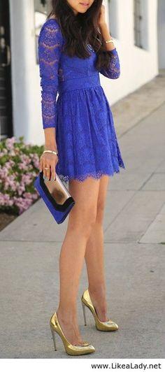 Purple ace dress