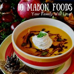 Mabon is around the corner. Here's 10 delicious Mabon foods and Mabon recipes your entire family will ado Mabon is around the corner. Here's 10 delicious Mabon foods and Mabon recipes your entire family will adore this Autumn Equinox! Mabon, Samhain, Pumpkin Spice Coffee, Spiced Coffee, Pumpkin Soup, Drink Recipe Book, Whole Roasted Cauliflower, Autumnal Equinox, Kitchen Witchery