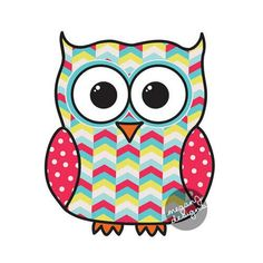 Image via We Heart It https://weheartit.com/entry/114255358/via/11210647 #cute #decal #owl #red #sticker #summer #teal #yellow