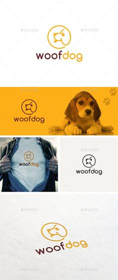 Woof Dog Logo Template - Logo Templates #DogProyects