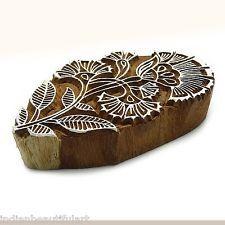 Индийский ручной резной цветок дизайн деревянная печать блок текстиль штамп PB2648A