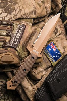 Hardcore Hardware Australia MFK-04G2 Generation 2 Tactical Fighting Survival Knife Blade Desert G-10 Kydex Sheath