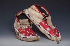 Sioux Beaded and Quilled Moccasins