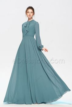Bridesmaid Dresses, look at the spectacularly elegant dress arrangement ref 4643196092 right here. Modest Bridesmaid Dresses, Modest Dresses, Stylish Dresses, Simple Dresses, Elegant Dresses, Beautiful Dresses, Bridesmaid Boxes, Bridesmaid Shirts, Bridesmaid Makeup