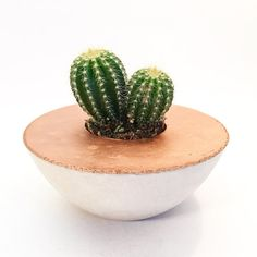 Concrete Planter Bowl SUNSET in Copper / Concrete. by UrbanYards