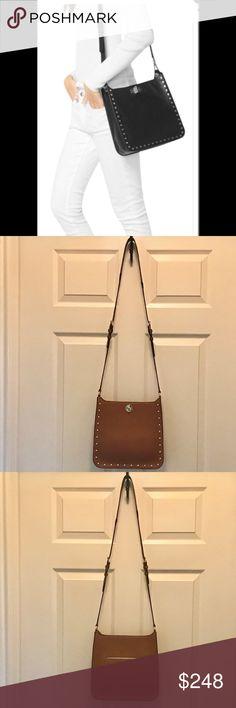 1a635da28 My Posh Picks · Michael Kors Sullivan Luggage Stud Messenger Bag  NWT-Michael Kors Sullivan studded leather luggage (