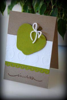 Carte d'invitation pomme verte
