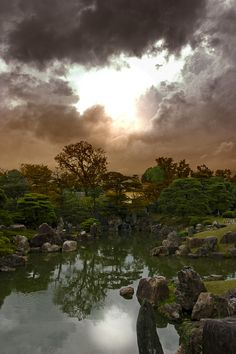 Kyoto Garden After Storm. <<< Wish El Paso looked like this after a storm!!