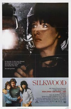 Silkwood  (1983) Meryll Streep / Kurt Russell / Cher / I Loved this movie - Great Biographical Thriller &  Cher w/ her Mortuary Make-up Artist Girlfriend - Tooo good! (& of course, Baby Faced Gorgious Boy - Kurt Russell) http://www.moviepostershop.com/silkwood-movie-poster-1983