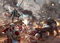 Tau Artwork #tau #wh40k #40k #warhammer40k #40000 #warhammer40000 #wh40000 #tauempire #artwork #artworks