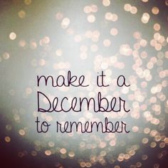 Let's make this last month of 2014 unforgettable!☺️ #HappyMonday Hope you all have a wonderful and blessed week! #browsbylucy