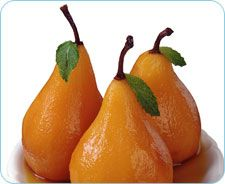 Poached Pears With Honey Yogurt - Crohns Disease friendly!