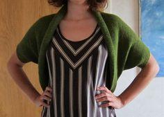 Machine knitted shrug
