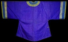 Purple! Antique Chinese Robe Silk Embroidered Ching Embroidery Qing Han 19thc #ChingDynasty