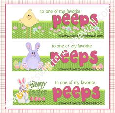 "Free Printable Label! Just stick 5 peeps in a sandwich bag, add label, and you have a gift for your ""peeps""!"