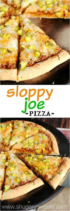 Sloppy Joe Pickles and Cheese Pizza: transform your pizza night with this DELICIOUS pizza recipe. Even my pickiest eaters LOVED it. #BecomeABetterBaker