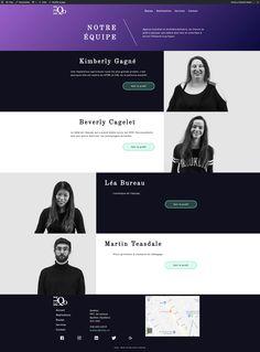 Page d'équipe du projet Eliqo  Intégration: Martin Teasdale