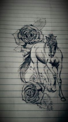 horse tattoos on pinterest whale tattoos tattoos and body art and tribal horse tattoo. Black Bedroom Furniture Sets. Home Design Ideas