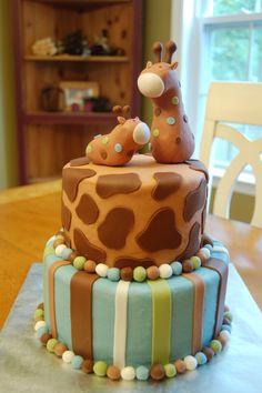 Giraffe Baby Shower Cake- SO CUTE