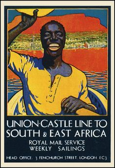 Vintage Union Castle LInes Travel Poster: South & East Africa