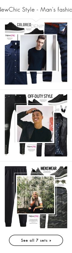 """""""NewChic Style - Man's fashion"""" by mymilla on Polyvore featuring AFS JEEP, men's fashion, menswear, Oliver Peoples, Nico e Oxford"""