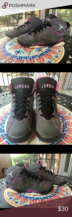 Air Jordan 7 Retro 30th GG Valentines Day Size 6Y Nike Air Jordan 7 Retro 30th GG Valentines Day grey  Size 6 Youth Color Grey Fair Condition (Some yellowing around the sole, some light dirt on toes.) Jordan Shoes Sneakers