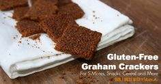 Indulge in these gluten-free graham crackers with milk, homemade s'mores or an afterschool snack. This gluten-free graham cracker recipe is easy to make.