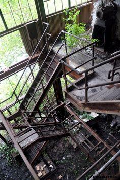Coal breaker: stairwell
