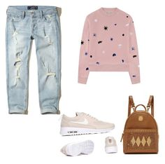 """OOTD"" by karma-yoseob on Polyvore featuring Hollister Co., Être Cécile and MCM"