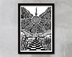 Graphic Art Graphic Art Print No Fear Black and