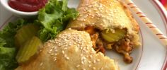 Enjoy all the flavors of a cheeseburger in easy calzone form!