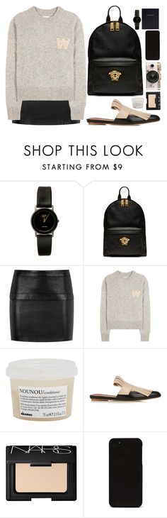 """""""VOTE"""" by mariimontero ❤ liked on Polyvore featuring American Apparel, Versace, Yves Saint Laurent, Wood Wood, Davines, Marni, Urban Outfitters, NARS Cosmetics and Leathersmith"""