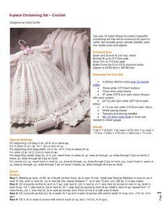 6-Piece Christening Set free crochet pattern