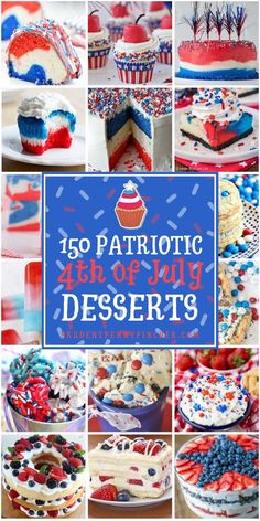From patriotic cupcakes and festive cookies to delicious cakes and treats, there are plenty of creative of july desserts that will wow your guests 4th Of July Cake, Fourth Of July Food, 4th Of July Party, July 4th, Patriotic Desserts, 4th Of July Desserts, Memorial Day Desserts, Dessert Recipes, Cinco De Mayo