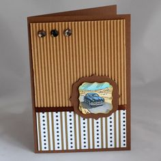By Dee Caria. Look Retro, Masculine Cards, I Card, Vintage Cars, Home Decor, Craft Cards, Ideas, Decoration Home, Room Decor