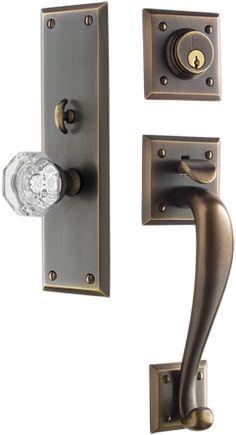 Nice Front Door Entry Set; The Beveled Edge Was In Production From 1895 1950  U0026amp · Exterior Door HardwareAntique ...