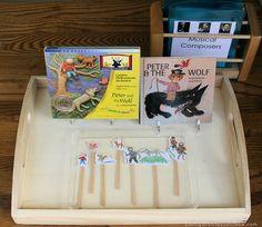 Montessori-Inspired Music Appreciation: Peter and the Wolf Preschool Programs, Preschool Music, Preschool Activities, Music Class, Music Education, Music For Kids, Good Music, Wolf Children, Young Children